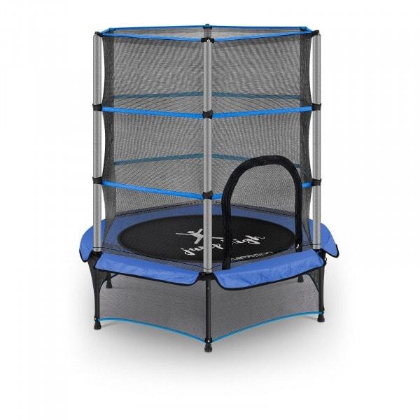 B-varer Trampoline for barn med sikkerhetsnett - 140 cm - 50 kg - blå