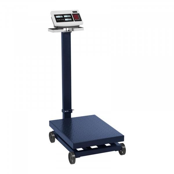 Plattformvekt - 600 kg / 100 g - LCD - med hjul