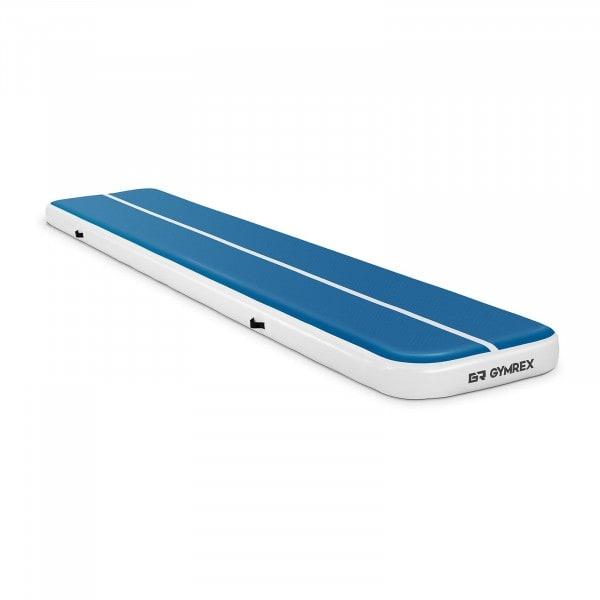 B-varer Oppblåsbar treningsmatte - 500 x 100 x 20 cm - 250 kg - blå/hvit