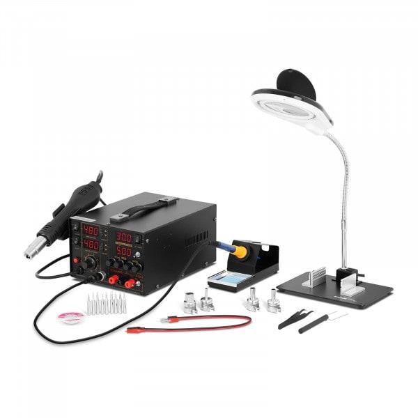 Loddestasjonsett med integrert adapter + tilbehør