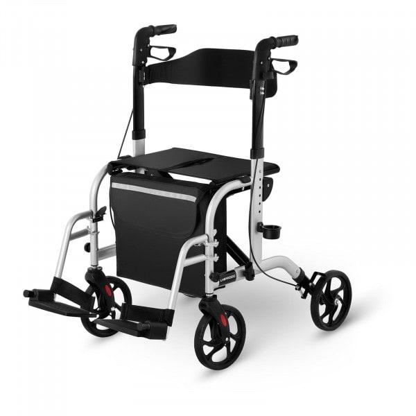 B-varer Rullator-rullestol 2 i 1 - Sølv - 136 kg