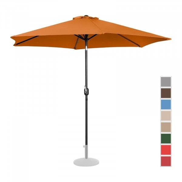 B-varer Stor parasoll - oransje - sekskantet - Ø 300 cm - kan skråstilles