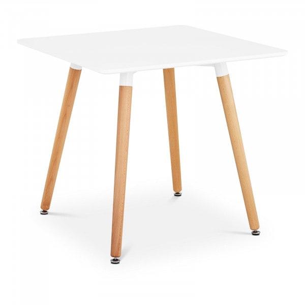 B-varer Rundt spisebord - 80 x 80 cm - hvitt