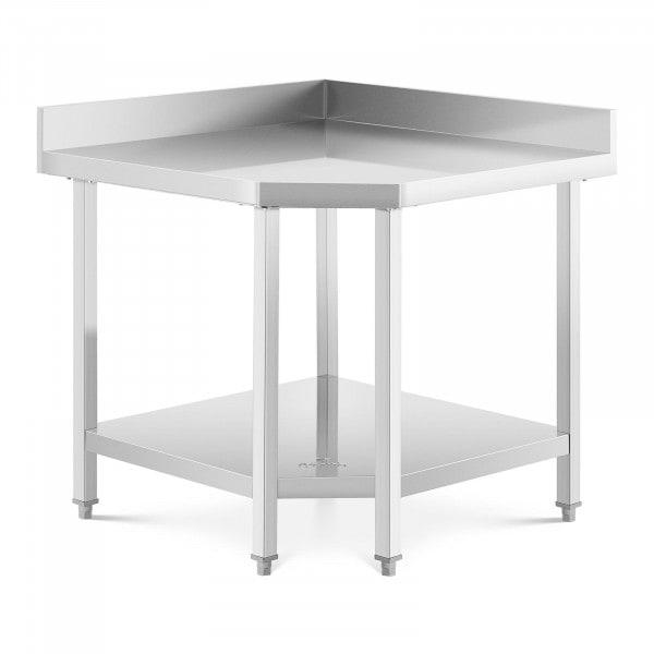 Hjørnebord i rustfritt stål - 90 x 70 cm - 300 kg kapasitet