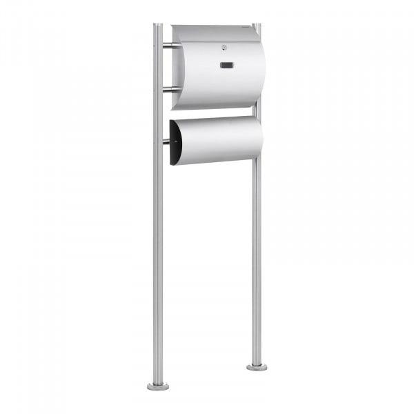 B-varer Free Standing Post Box - 1 Mailbox Plus Newspaper Compartment