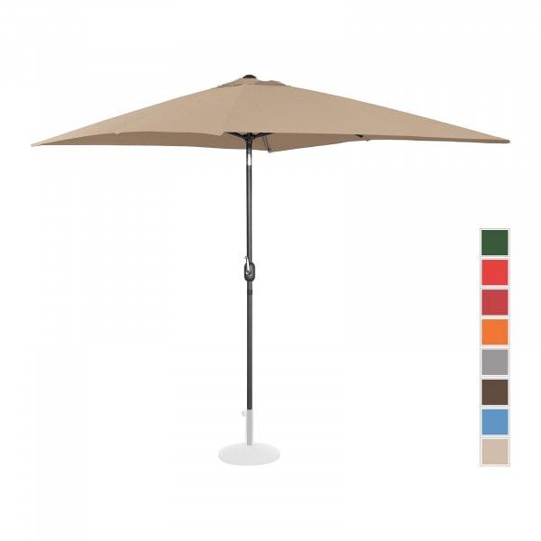 B-varer Stor parasoll - taupe - rektangulær - 200 x 300 cm - kan skråstilles