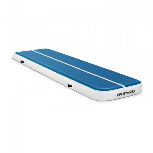 B-varer Oppblåsbar treningsmatte - 400 x 100 x 20 cm - 200 kg - blå/hvit