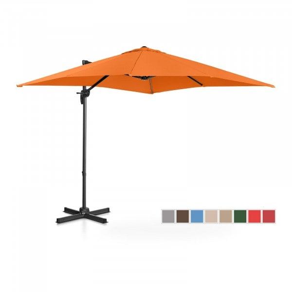 B-varer Hengeparasoll - oransje - rund - Ø 250 cm - kan dreies