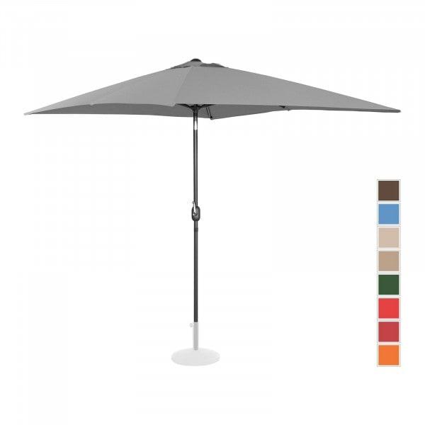 B-varer Stor parasoll - mørkegrå - rektangulær - 200 x 300 cm - kan skråstilles