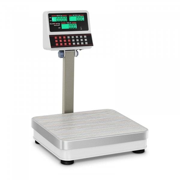 Butikkvekt - 60 kg / 5 g - hvit - LCD