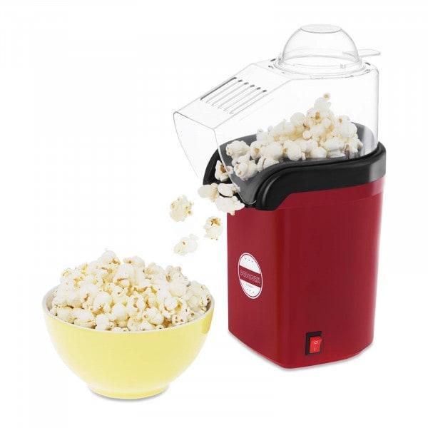 Popcornmaskin med varmluft - rød
