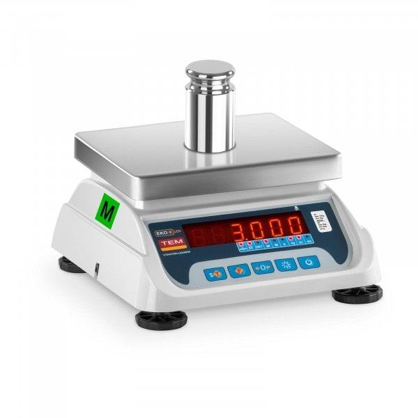 B-varer Bordvekt - 1,5 kg/ 0,5g - 3 kg/1 g - LED