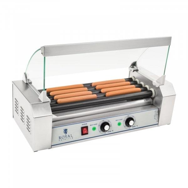 Gesamtansicht von Hot Dog Grill - 5 Rollen - Teflon