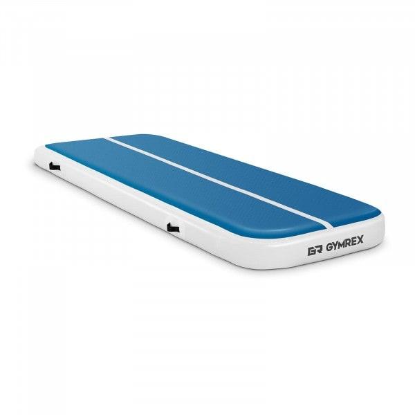 B-varer Oppblåsbar treningsmatte - 300 x 100 x 20 cm - 150 kg - blå/hvit