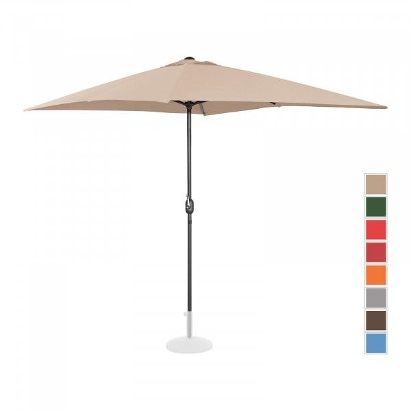 B-varer Stor parasoll - krem - rektangulær - 200 x 300 cm