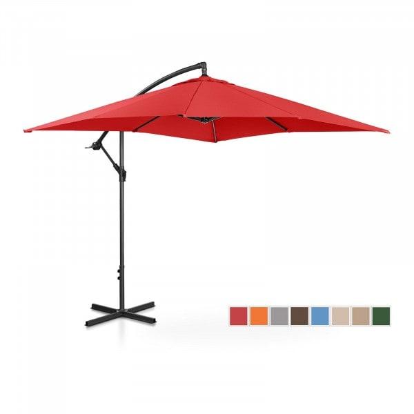 B-varer Hengeparasoll - rød - rektangulær - 250 x 250 cm - kan skråstilles