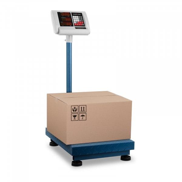 B-varer Plattformvekt – 150 kg / 10 g - 50 x 40 cm – kompakt
