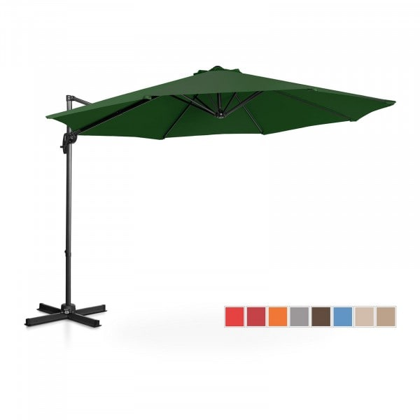 B-varer Hengeparasoll - grønn - rund - Ø 300 cm - kan dreies