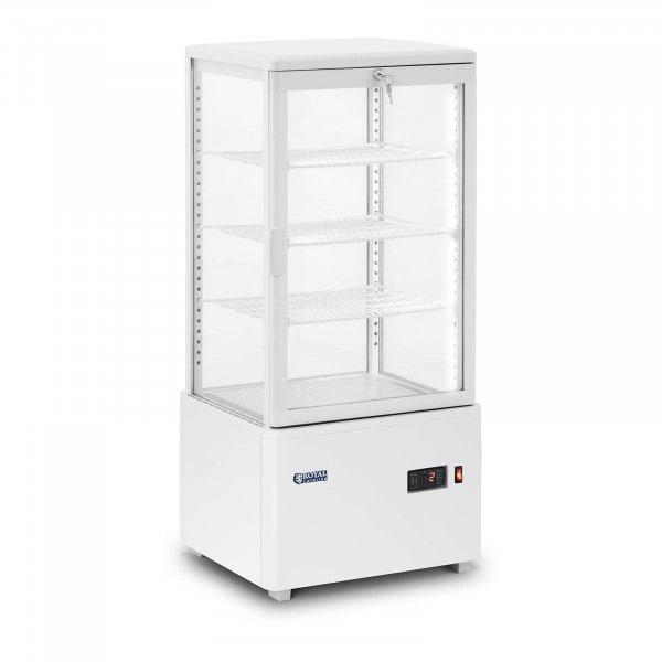 Kjølevitrine - 78 L - 4 hyller - hvit - kan låses