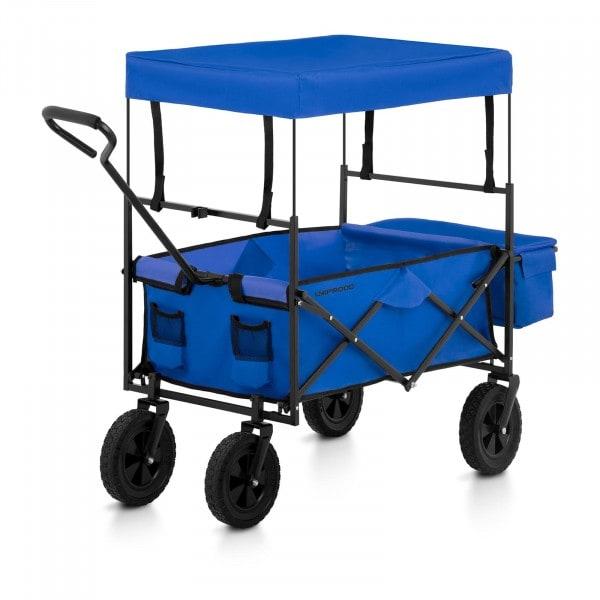 B-WARE Sammenleggbar trekkvogn med tak - blå