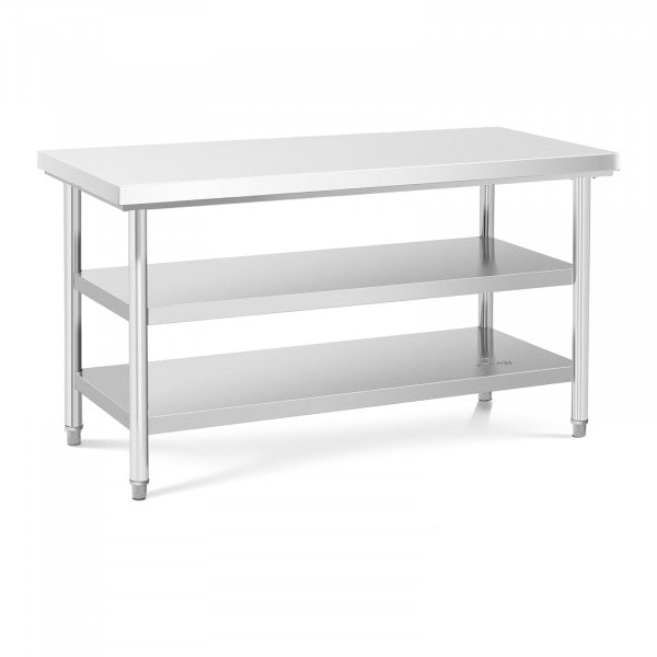 Stainless Steel Work Table - 150 x 70 cm - 600 kg - 3 levels