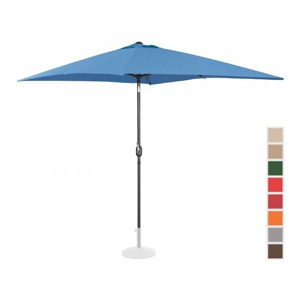 B-varer Stor parasoll - blå - rektangulær - 200 x 300 cm - kan skråstilles