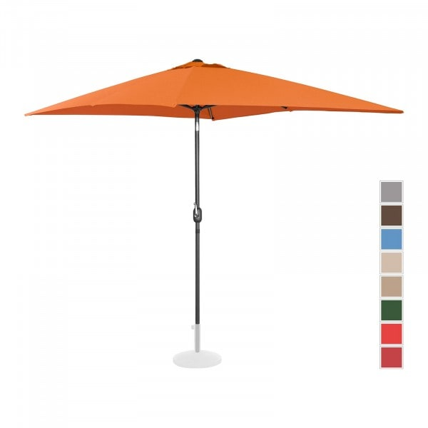 B-varer Stor parasoll - oransje - rektangulær - 200 x 300 cm - kan skråstilles