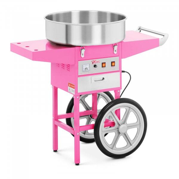 Sukkerspinnmaskine med vogn - 52 cm