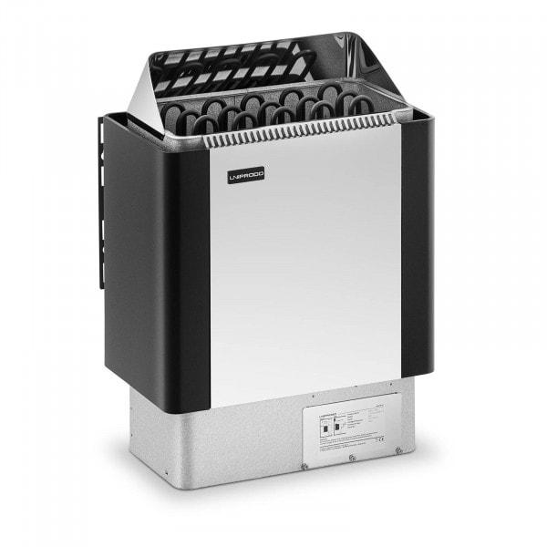 B-varer Badstuovn - 8 kW - 30 til 110 °C - front av rustfritt stål