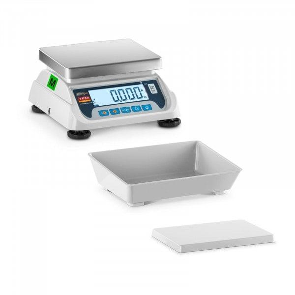 B-varer Bordvekt med vektskål - sertifisert - 3 kg /1 g - LCD