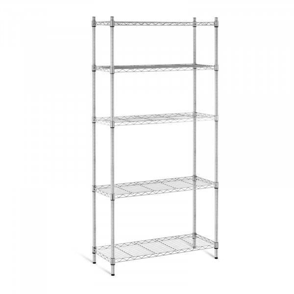B-varer Oppbevaringshylle – metall – 35 x 90 x 180 cm – grå