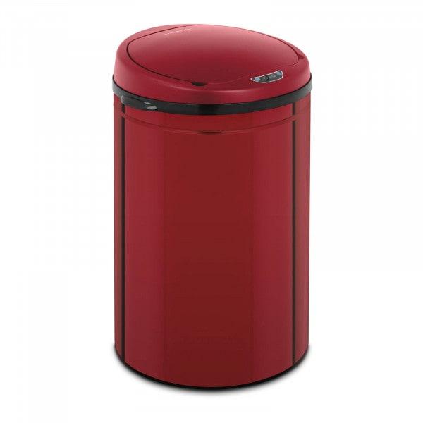 B-varer Avfallsbeholder med sensor - 30 L - rød - ekstra beholder - karbonstål