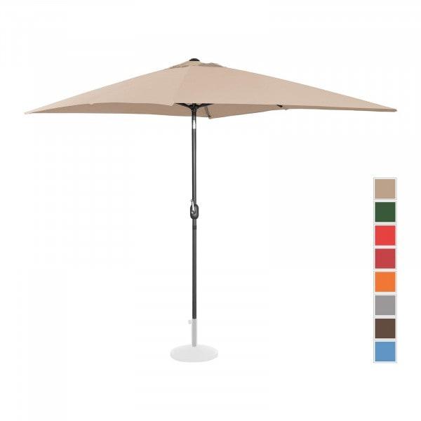 B-varer Stor parasoll - krem - rektangulær - 200 x 300 cm - kan skråstilles