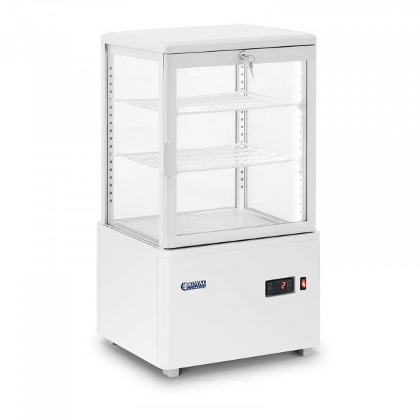 Refrigerated Display Case - 58 L - 3 levels - white - locking