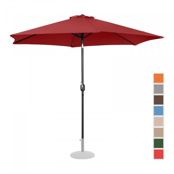 B-varer Stor parasoll - burgunder - sekskantet - Ø 300 cm - kan skråstilles