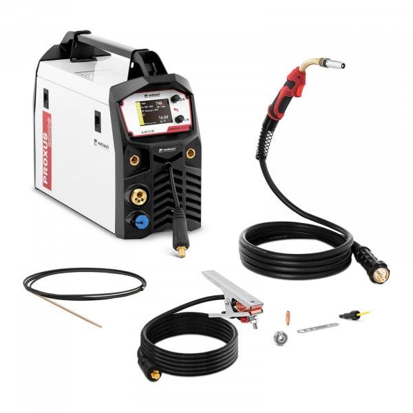 B-varer MIG/MAG Sveiseapparat - 200 A - Synergisk pulsfunksjon - Berøringsskjerm - MMA