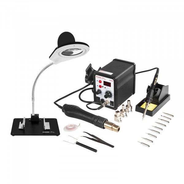 Sett loddestasjon - 60 Watt - LED-display + tilbehør