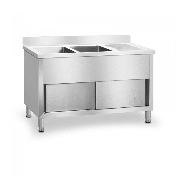 Dobbel kjøkkenvask - 140 cm
