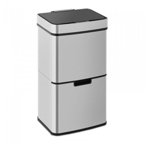 B-varer Avfallsbeholder med sensor - 62 L - 3 beholdere - rustfritt stål