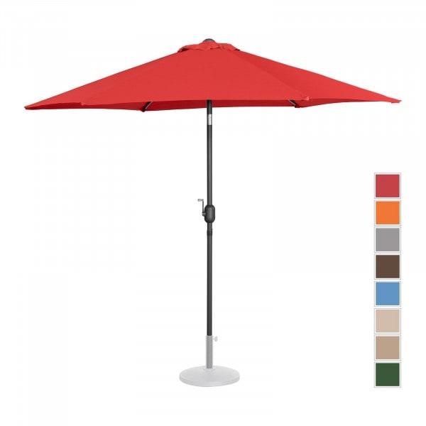 B-varer Stor parasoll - rød - sekskantet - Ø 270 cm - kan skråstilles