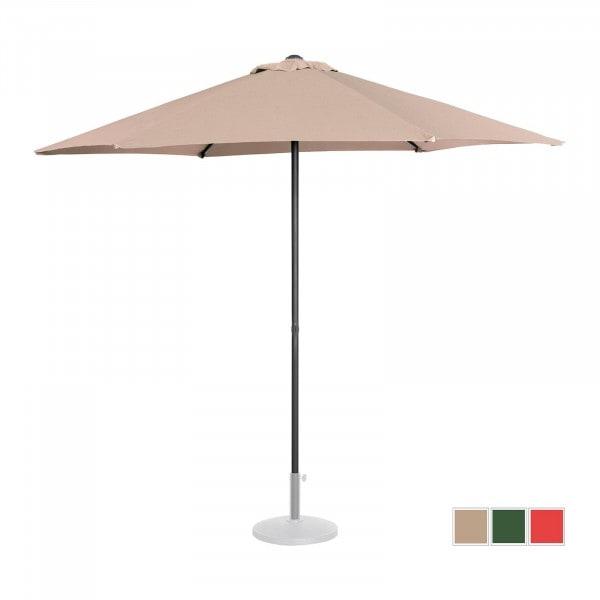 B-varer Stor parasoll - krem - sekskantet - Ø 270 cm