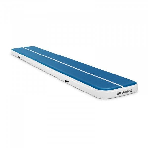 B-varer Oppblåsbar treningsmatte - 600 x 100 x 20 cm - 300 kg - blå/hvit