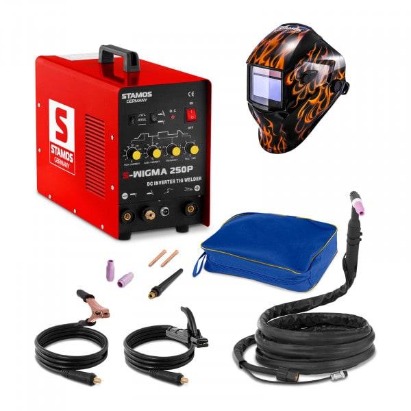 TIG-sveiseapparat - Sett - 250 A - 230 V - Puls + Sveisemask – Firestarter 500 - ADVANCED SERIES