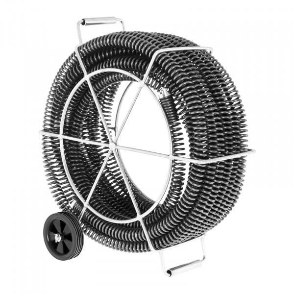 Rørrengjøringsspiral-sett med 4 x 4,65 m - Ø 32 mm