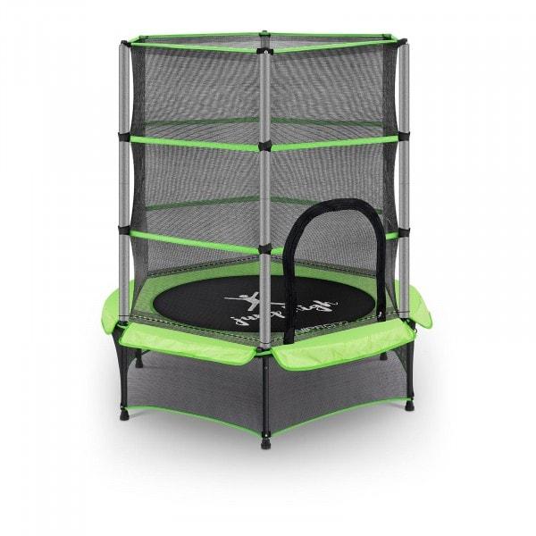 B-varer Trampoline for barn med sikkerhetsnett - 140 cm - 50 kg - grønn