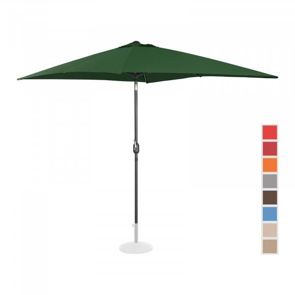 B-varer Stor parasoll - grønn - rektangulær - 200 x 300 cm - kan skråstilles
