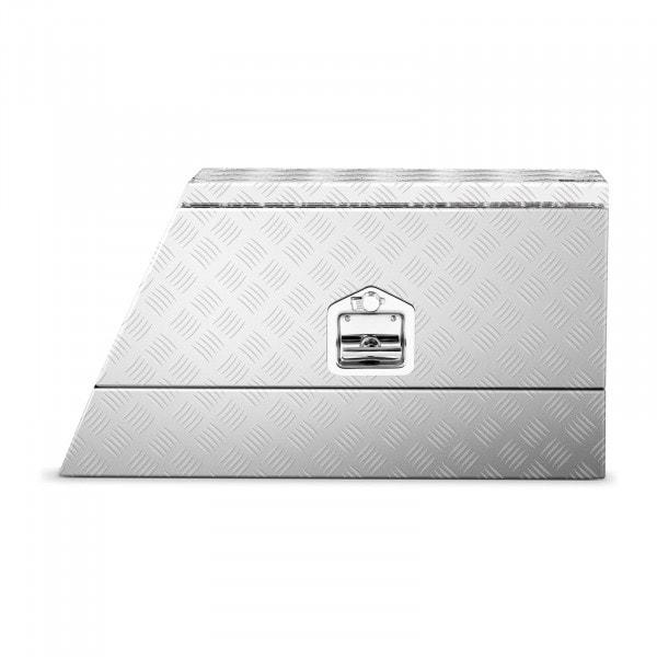 B-varer Aluminiumskasse 75 x 25 x 40 cm - 75 L - låsbar