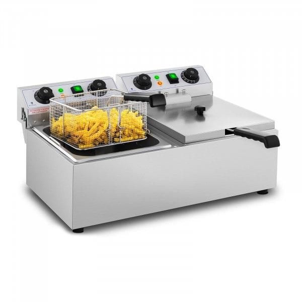 Elektrisk frityrkoker – 2 x 10 l – Timer – 230 V