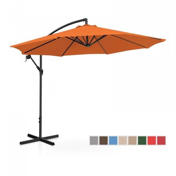 B-varer Hengeparasoll - oransje - rund - Ø 300 cm - kan skråstilles