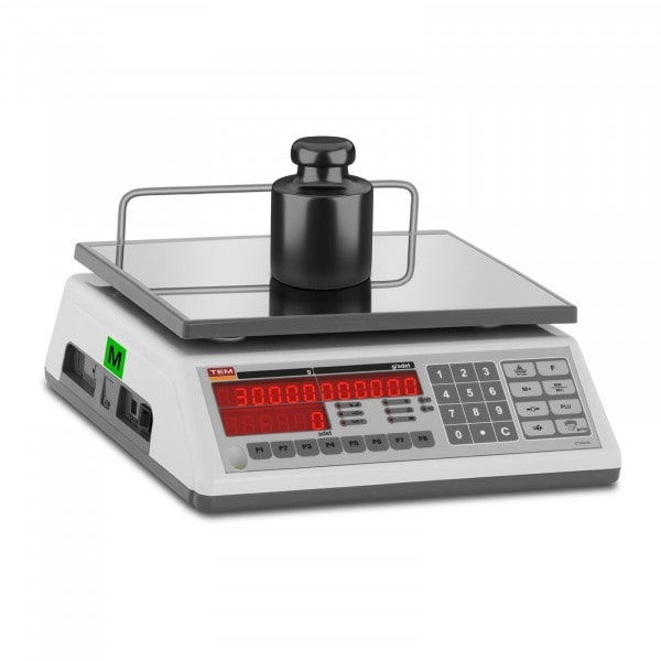 B-varer Counting Scale - officially calibrated - 30 kg / 10 g